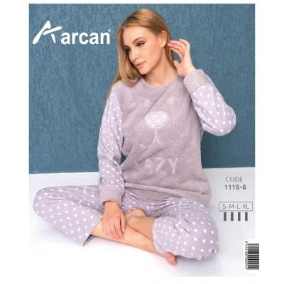 1115-6 Теплая пижама женская ARCAN