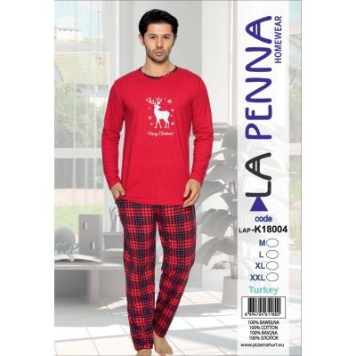 K18004 Пижама Мужская Новогодняя LA PENNA